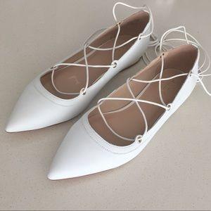Aldo Alize white leather Flats